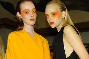 The Damir Doma SS11 Show Contained Yellow Makeup & Sexy Silhouettes