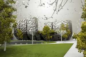 The Lotus Towers from Enota are Designed to Embrace Nature