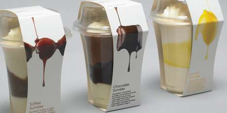 Delectable Dessert Packaging - Waitrose Sundae Design Will Make Your Mouth Water