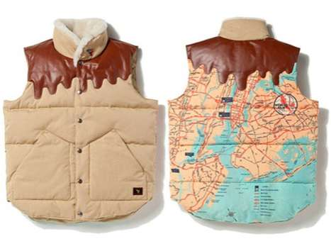 Melting Map Vests - The BBC Space Beach Vest is Couture for Cartographers