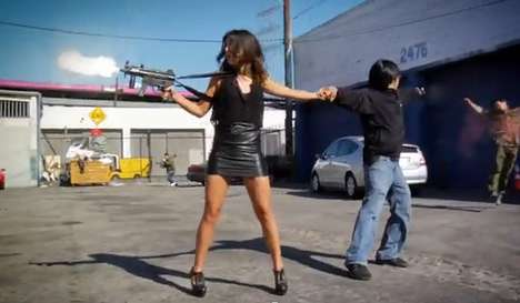 Real-Life Gaming - Freddie Wong and Shanae Grimes Star in 'Gun Size Matters'
