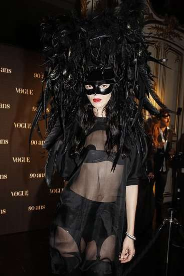 Avant-Garde Masquerades - Outrageous Masks at the Vogue Paris 90th Anniversary Ball