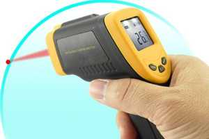No-Touch Point-and-Shoot Infrared Digital Thermometer Gives You Distance