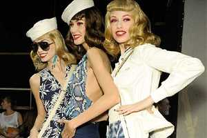 The Christian Dior S/S 2011 Collection Combines Navy with Pretty