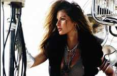 Edgy Biker Babes - Gisele Bundchen in DT Magazine October 2010 is 'The Wildest'