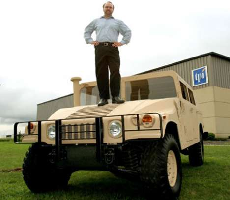 Foam and Balsa Wood Vehicles - Army Tests Lighter Composite Humvees