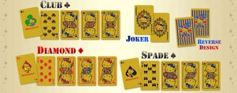 $5,000 Playing Cards - Gold Hello Kitty Deck