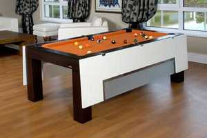 The Koraltaruk Bilardo Converts from a Pool Table to a Dining Table