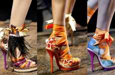 Tribal Feathered Pumps