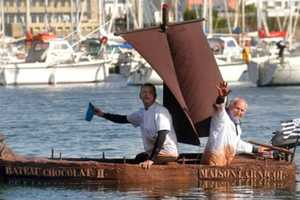George Larnicol's Chocolate Boat is Surprisingly Sea-Worthy
