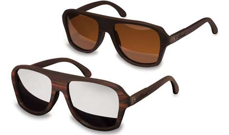 shwood ashland aviator sunglasses