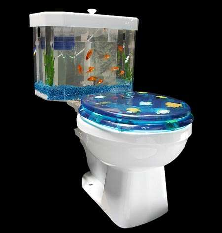 Toilet Tank Aquariums - Save Water with the Eco-friendly Fish 'n Flush