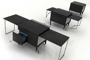 The Kkanapètko Desk from Krassi Dimitrov Doubles Your Workspace