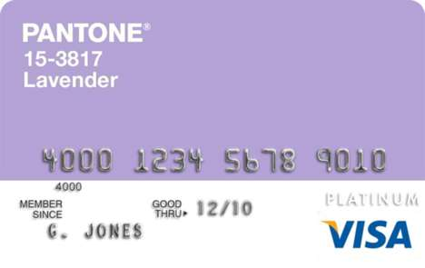 Fashionable Credit Cards - Shop in Style With these Pantone Visa Platinium Rewards Cards