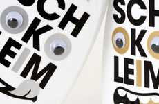 Googly-Eyed Bottles - This Schokoleim Packaging is an Eyeful of Cuteness