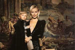 Eva Herzigova and Son Pose for Vogue Espana Ninos FW 2010-11