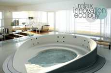 Transformer Hot Tubs - The Shore Bathtub Can Change its Shape on Demand