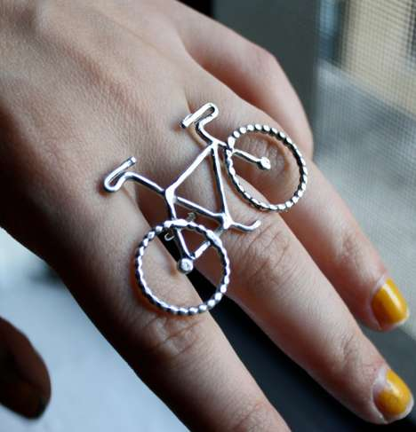Handmade Sterling Silver Bike Jewelry