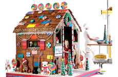 Huge Delectable Dollhouses - The $15,000 Edible Gingerbread Playhouse is 6 Feet of Sugary Fun