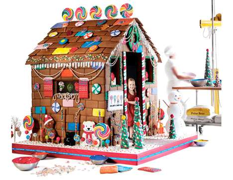 Edible Gingerbread Playhouse