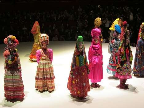 Cultural Costume Fashion - The Kenzo 40th Anniversary Show was a Feast for the Eyes