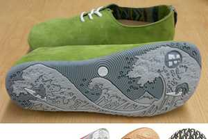 Check Out these Artistic Images on the Sole of Merrell Ukiyo-E Shoes