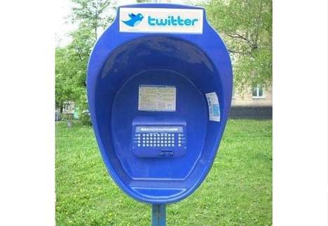 Social Media Kiosks - The Public Twitter Booth Lets the Smartphone-Free Tweet On the Go