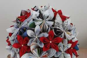 Whether Paperworks Creates Paper Flower Bouquets from Vintage Magazines