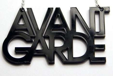 Alphabetic Acrylic Accessories - The Plastique Avant Garde Necklace is a Typography Essential