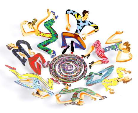Whirly Wacky Sculptures - David Gerstein Designs Disco Fruit Bowls and More