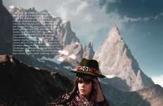 Mountainous Haute Couture - Harper's Bazaar UK November 2010 Issue Brings Fashion to New Heights