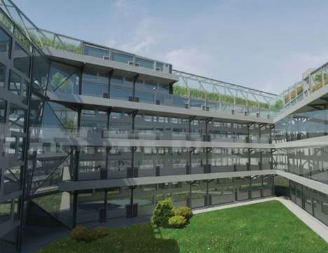 Greenhouse Housing - The Growingcity Aims to Integrate Farming With Urban Living