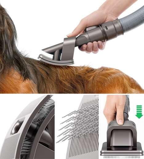 Hi-Tech Pet Grooming - The Dyson Groom Brush Solves the Shedding Problem