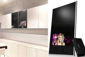 The 'Luxurite Cabinet Door TV' is Your Entertainment All-in-One