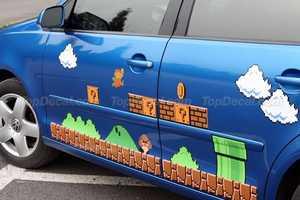 Pimp Your Ride with the Super Mario Vinyl Car Decal