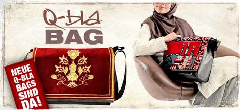 Prayer Rug Bag Hybrids - These 'Styleislams' Q-Bla Bags are Made of Recycled Rugs