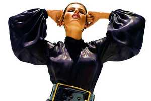 The Stunning Isabeli Fontana in Shiny Black by Solve Sundsbo
