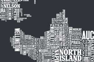 The Bold & Noble Typographic Topography is Elegantly Eloquent