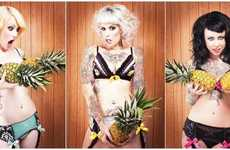 Fruitful Fantasy Underwear - Nicolle Clemetson Shoots for Purrfect Pineapples Lingerie