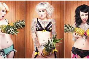 Nicolle Clemetson Shoots for Purrfect Pineapples Lingerie