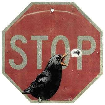 $75,000 Stop Signs - Donated Banksy Artwork Goes for 75 Large at Christie's in San Fran