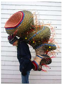 Woven Weather Baskets - Nathalie Miebach Creates Meteorological Works of Art