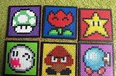 Geeky Gamer Tea Sets - Give Yourself Some Vintage Fun with these Nerdtastic Super Mario Coasters