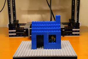 The BattleBricks MakerLegoBot is a Fully Functioning Block Printer