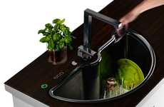 Self-Washing Basins