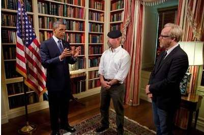 Scientific Presidential Stunts - 'MythBusters' and President Obama Join Forces