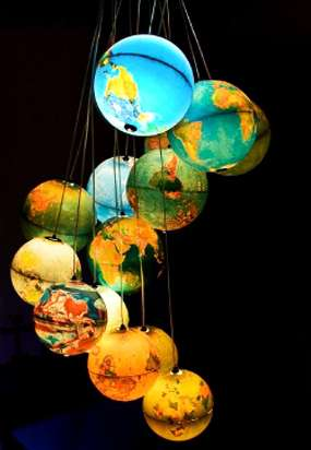 Otherworldly Light Fixtures - Benoit Vieubled Boggles Minds With New Globe Chandelier