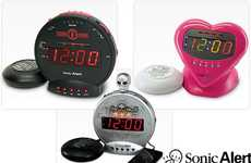 High-Pitched Alarms - Sonic Alert Clocks Punish Your Ears with Blaring Decibels