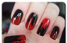 Bloody Nail Art - These Blood-Dripped Manicures are Perfect for the Halloween Fashionista