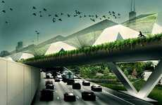 Freeway Farms - 'Feeder' from Studio Gang Turns an Overpass into a Greenhouse Garden